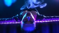 Club Party – Nightlife. Beautiful Sexy Young Glamorous Woman Relaxing in the Stock Footage