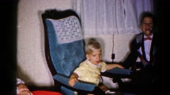 1959: at the home family little children kid and the time chair and everything Stock Footage