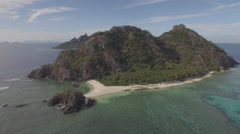 Lau Group islands Fiji Aerial shot with Drone Beautifull Tropical island Reef Stock Footage