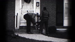 1959: outdoor greenery garden beautiful lush beauty working fixing HAGERSTOWN Stock Footage