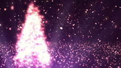 Abstract Christmas Tree Glitters Red Loopable Background Stock Footage