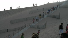 Tourists on the Dune of Pylat, France, EU, Europe Stock Footage