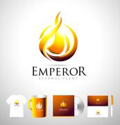 Flame Logo, Fire Logo, Fire Vector Stock Illustration