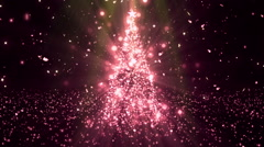 Christmas Tree Stars Red Loopable Background Stock Footage