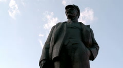 Monument to Lenin, the leader of the revolution Stock Footage