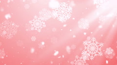 Christmas Winter Snowflakes Red Loopable Background Stock Footage
