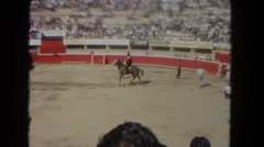 1962: horse riding wild open outdoor people watch SAN PEDRO, CALIFORNIA Stock Footage