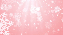 Heavenly Christmas Winter Snowflakes Loopable Background Stock Footage