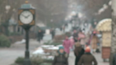 Bustle of the city in the winter season Stock Footage