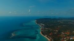 Aerial view on Samui island. Panorama. Thailand. Stock Footage