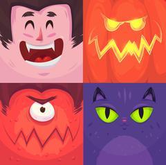 Happy halloween. Set of  Halloween characters Piirros