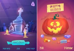 Vector set of halloween illustrations Piirros