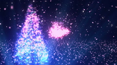 Christmas Wishes Title Blue Stock Footage