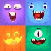 Vector set of halloween badges Piirros