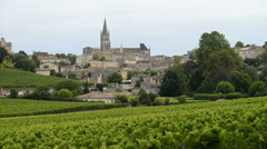 Beautiful town of Saint-Emilion, Gironde, Aquitaine, France Stock Footage