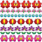 Seamless Hungarian folk art pattern - floral Kalocsai embroidery Stock Illustration