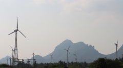 Energy alternatives 8. Wind farm in Indian province of Kerala. Stock Footage