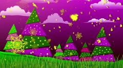 Retro Christmas Purple Loopable Background Stock Footage