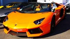 Lamborghini Aventador lp 700-4 Roadster sports car Stock Footage