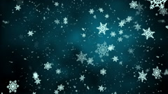 Winter Snow and Snowflakes Loopable background Stock Footage