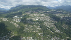 Vancouver from the Sky - Helicopter Footage PORT MOODY Stock Footage
