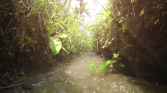 Water through an Irrigation Canal in Bali, with Sound Stock Footage