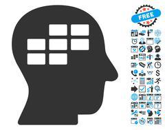Schedule Thinking Flat Vector Icon With Bonus Stock Illustration