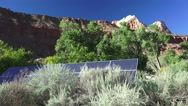 Zion National park, landscape, solar panels Stock Footage