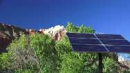 Zion National Park, Solar Panels, 2016, Oct. Stock Footage