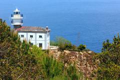Lighthouse Getaria  on Mount San Anton, Spain, Basque Country. Stock Photos