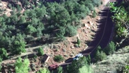Hair pin turn, Motorhomes at Zion National Park, Sept 2016 Stock Footage