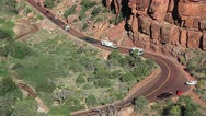 Motorhomes at Zion National Park, Sept 2016 Stock Footage