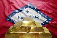 Arkansas gold reserves Stock Photos