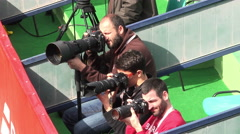 Photographers on a tennis game  Stock Footage