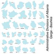 Administrative divisions of Albania Stock Illustration