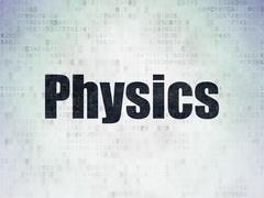 Education concept: Physics on Digital Data Paper background Stock Illustration