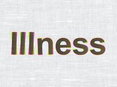 Healthcare concept: Illness on fabric texture background Stock Illustration