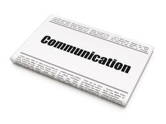 Marketing concept: newspaper headline Communication Stock Illustration