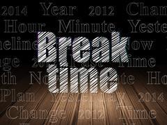 Time concept: Break Time in grunge dark room Stock Illustration