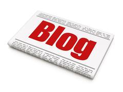 Web design concept: newspaper headline Blog Stock Illustration