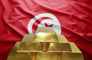 Tunisian gold reserves Stock Photos