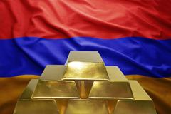 Armenian gold reserves Stock Photos