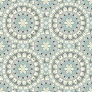 Ornate floral seamless texture, endless pattern with flowers looks like retro Stock Illustration