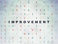 Business concept: Improvement on Digital Data Paper background Stock Illustration