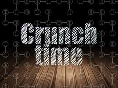 Finance concept: Crunch Time in grunge dark room Stock Illustration
