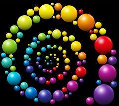 Colorful Snail Pattern Spiral Stock Illustration