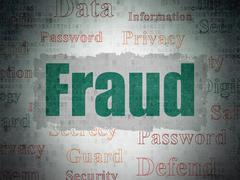 Privacy concept: Fraud on Digital Data Paper background Stock Illustration