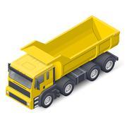 Tip truck isometric detailed icon Stock Illustration