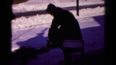 1959: it's not so fun when this happens. HAGERSTOWN, MARYLAND, winter time Stock Footage