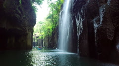 Manai Waterfall Of Takachiho Gorge, Miyazaki Prefecture, Japan Stock Footage